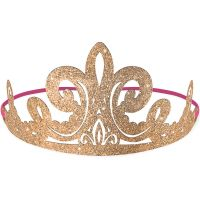 Disney Princess Once Upon A Time Glitter Paper Tiaras - Pack of 8