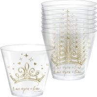 Disney Princess Once Upon A Time Gold Tiara Plastic Tumbler Cups (Pack of 8)