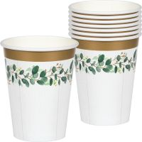 Eucalyptus Greens Paper Cups (Pack of 8)