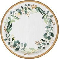 Eucalyptus Greens Large Paper Plates (Pack of 8)