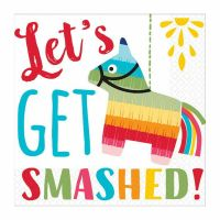 Fiesta Let's Get Smashed Small Napkins / Serviettes (Pack of 16)