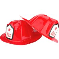 Fire Chief Plastic Hats (Pack of 12)
