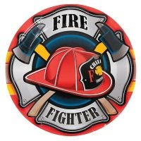 Firefighter Party Large Paper Plates (Pack of 8)