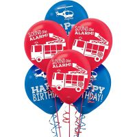 First Responders Latex Balloons (Pack of 6)