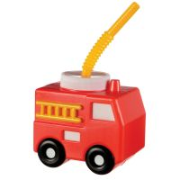 First Responders Fire Engine Novelty Cup with Straw