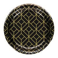 Pack of 8 Roaring 20s Small Paper Plates