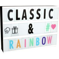 LED Lightbox with Coloured Letters & Symbols