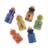 Mini Wizard Glass Potion Charm Bottles (Pack of 6)