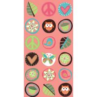Boho Hippie Chick Paper Treat Bags (Pack of 8)