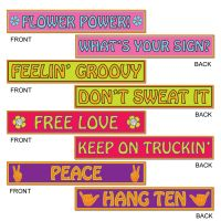 Hippie Street Sign Decorations (Pack of 4)