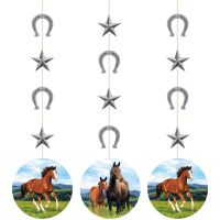 Carousel Horses Hanging Decorations (Pack of 3)