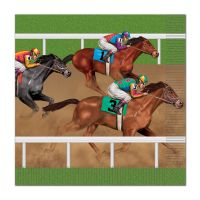 Horse Racing Large Napkins / Serviettes (Pack of 16)
