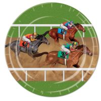 Horse Racing Large Paper Plates (Pack of 8)