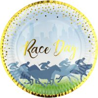 Race Day Large Paper Plates (Pack of 8)