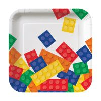 Block Party Small Paper Plates (Pack of 8)