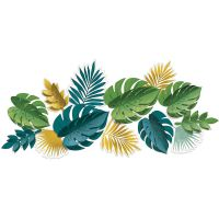 Key West Green & Gold Leaf 3D Wall Decorations (Pack of 13)