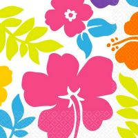Summer Hibiscus Large Paper Napkins (Pack of 16)