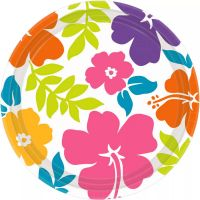 Summer Hibiscus Large Paper Plates (Pack of 8)