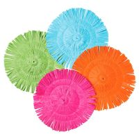 Bright Round Luau Fringe Placemats (Pack of 12)