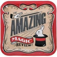 Magic Party Large Square Paper Plates (Pack of 8)