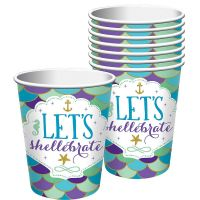 Holographic Mermaid Paper Cups (Pack of 8)