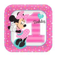 Minnie Mouse Fun To Be One Small Paper Plates (Pack of 8)