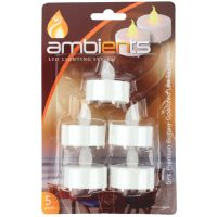 White Unscented Pillar Candle (19cm)