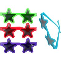 Pack of 8 Assorted Coloured Star Glasses