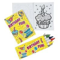 Mini Happy Birthday Colouring Sets (Pack of 12)