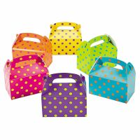 Coloured Lolly/Treat Boxes (Pack of 12)