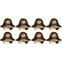 Little Pirate Party Masks (Pack of 8)