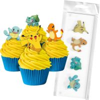 Pokemon Edible Wafer Cupcake Toppers (Pack of 16)