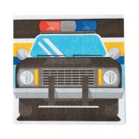 Police Party Small Napkins / Serviettes (Pack of 16)
