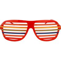 Rainbow Carnival Shutter Shade Party Glasses