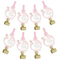 Swan Princess Party Blowers (Pack of 8)