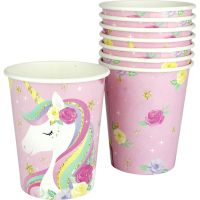 Fairytale Unicorn Paper Cups (Pack of 8)