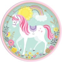Magical Unicorn Large Paper Plates (Pack of 8)