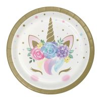 Unicorn Baby Small Paper Plates (Pack of 8)