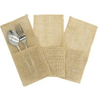 Hessian Cutlery Pouch (Pack of 3)