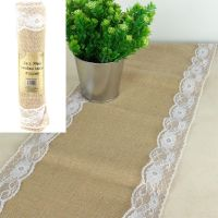 Lace Hessian Table Runner
