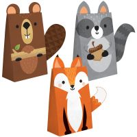 Woodland Animal Paper Treat Bags Pack of 8