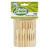 Bamboo Cocktail Forks (Pack of 100)