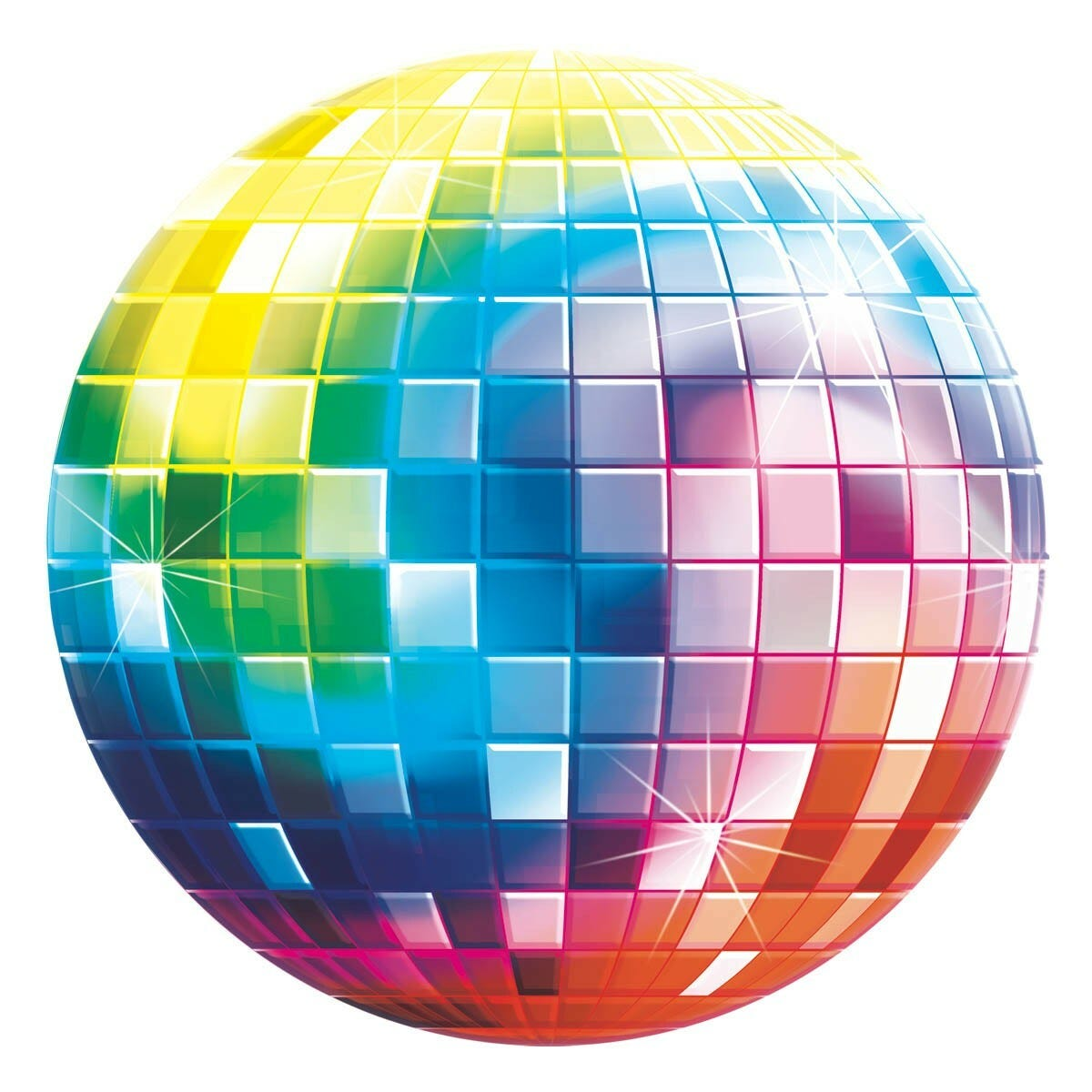 Disco Ball Party Decorations: DISCO BALL 70'S CARDBOARD CUTOUT PARTY ROOM WALL CEILING