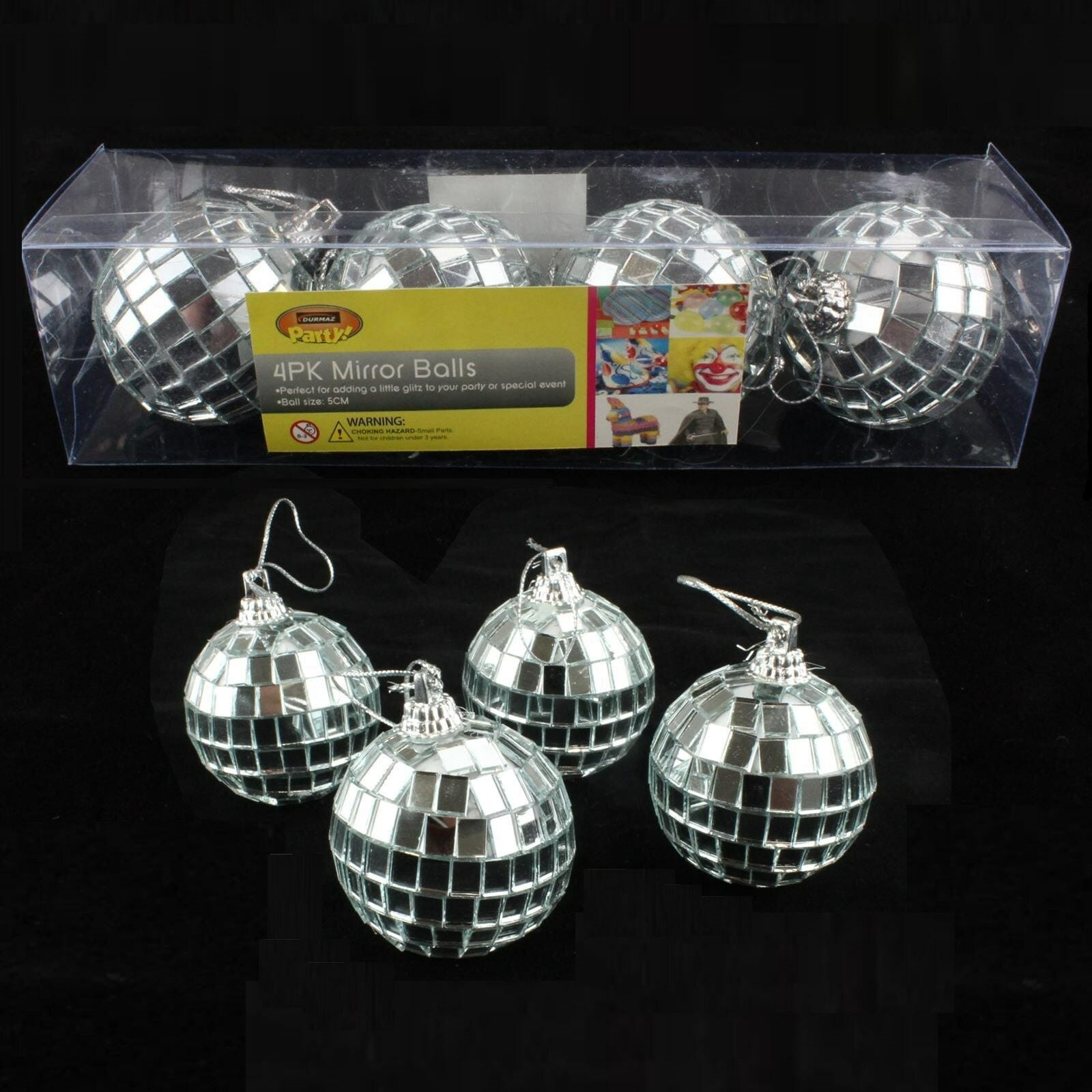 Disco Ball Table Decorations: DISCO PARTY SUPPLIES DECORATIONS SILVER ORNAMENTS MINI