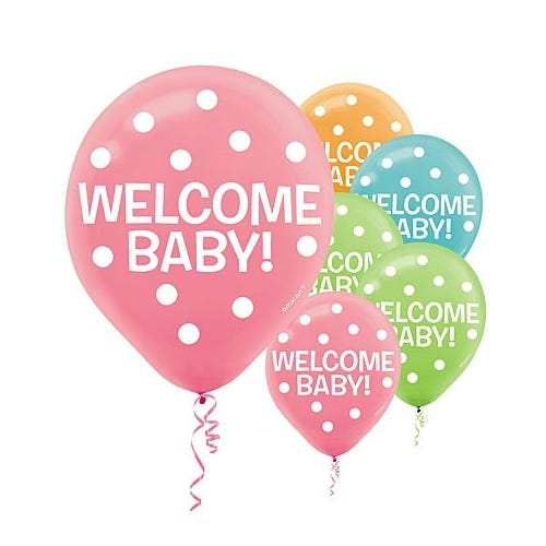 Helium Balloons Baby Shower: FISHER PRICE WELCOME BABY 15 HELIUM QUALITY LATEX BALLOONS