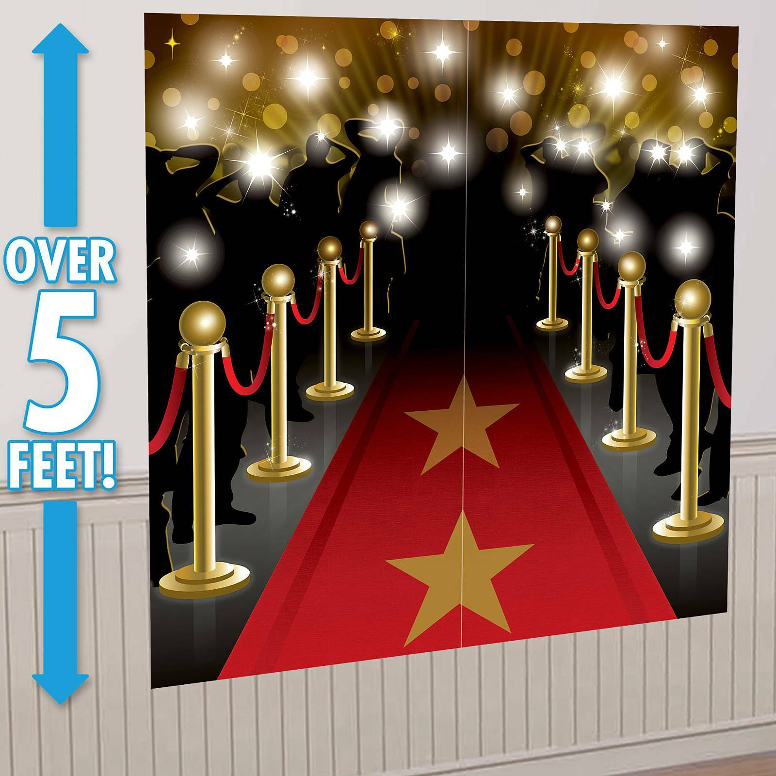 hollywood star red carpet party wall decorations scene. Black Bedroom Furniture Sets. Home Design Ideas