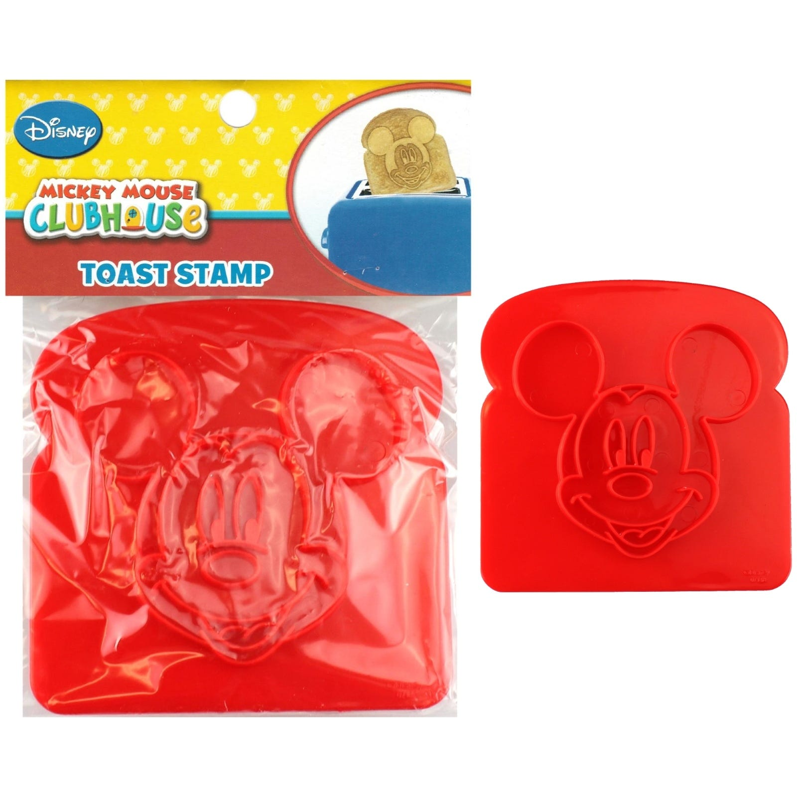 Mickey Mouse Clubhouse One 1 Plastic Mickey Face Toast