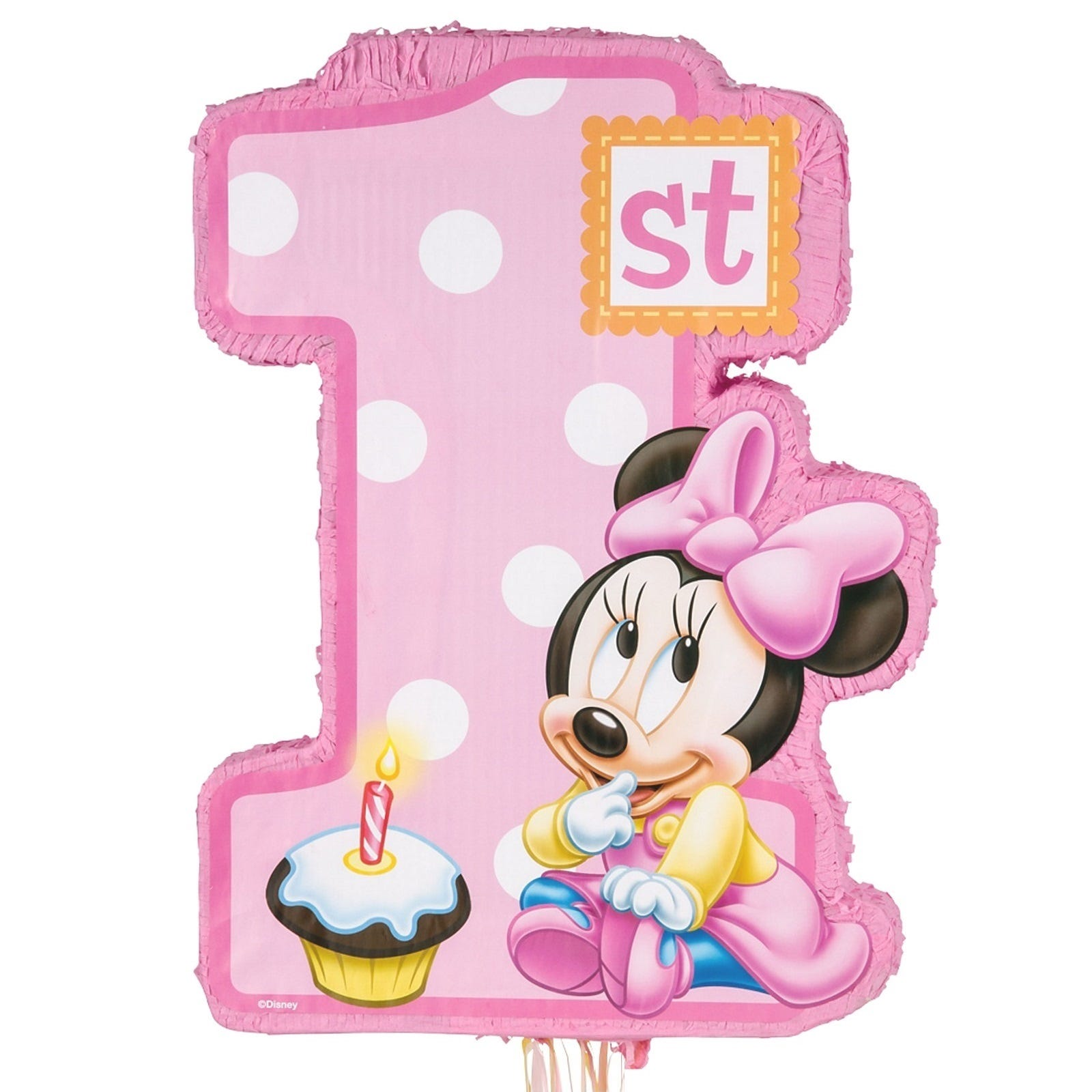 Minnie Mouse 1st Birthday: MINNIE MOUSE 1ST BIRTHDAY PARTY SUPPLIES NUMBER 1 PULL