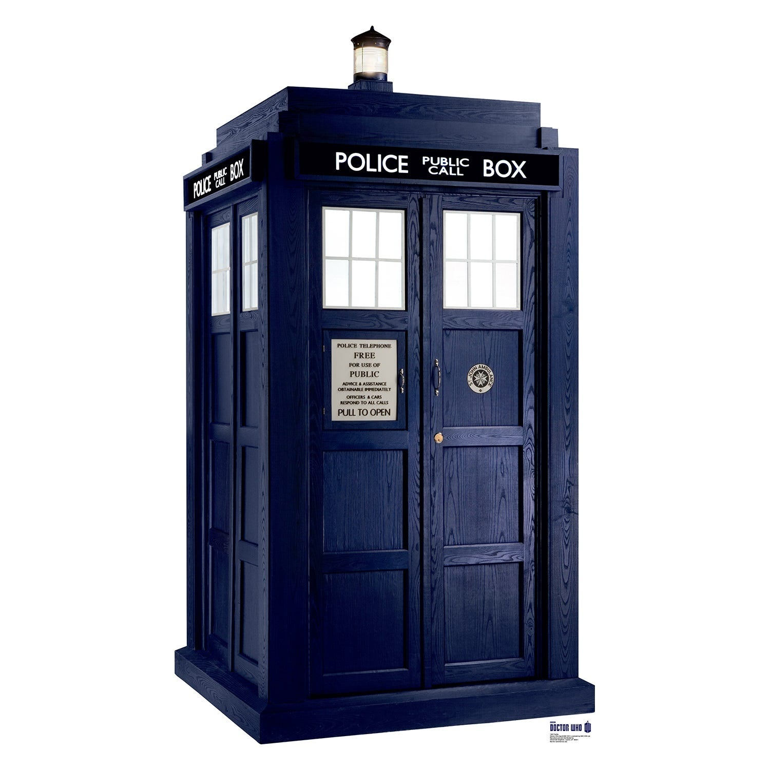 The Doctor Who telephone box. A symbol of the popular British television show.