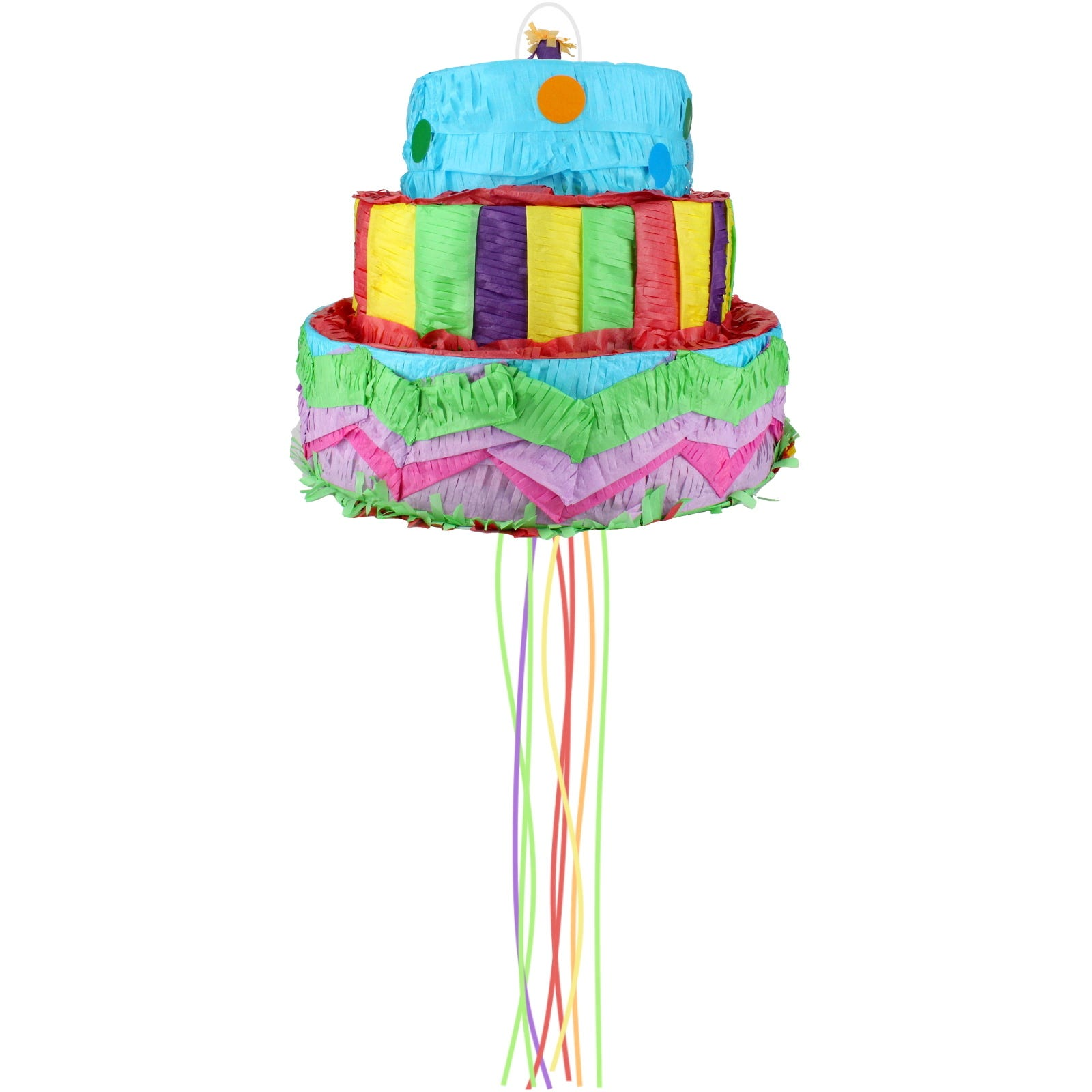 Superb 3D Three Tier Birthday Cake Pull String Pinata Pinyata Pinyarta Funny Birthday Cards Online Elaedamsfinfo